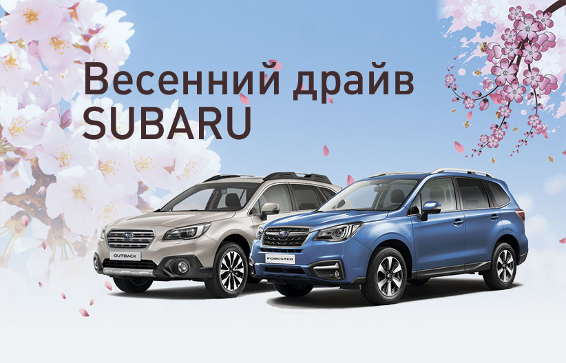 4 марта Субару Центр Киров приглашает на семейный праздник «Весенний драйв Subaru»!